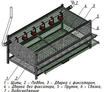 блок (клетка)для перепелов