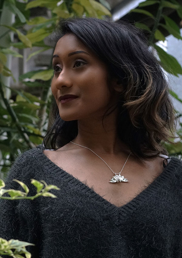 Silver Bat Necklace