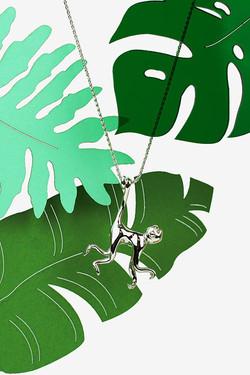 Silver Swinging Monkey