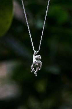 Silver Chimp Necklace