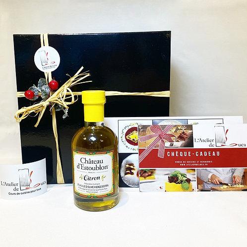 coffret cadeau cuisine huile citron