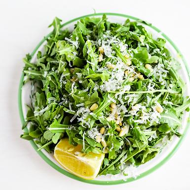 Arugula Salad with Pine nuts and Parmesan
