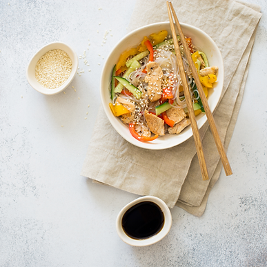 Sesame Pho Noodle with Chicken