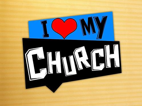 I Love My Church t-shirts