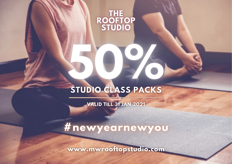 50% Studio Class Packs JAN 2021 A4 Flyer