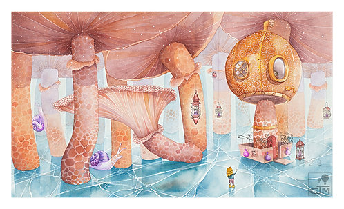 Magical Watercolour Illustrated A3 Print