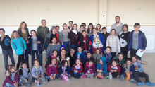 Els Delegats Verds de tota l'Escola, juntament amb tot l'Equip d'Escola Verda es troben