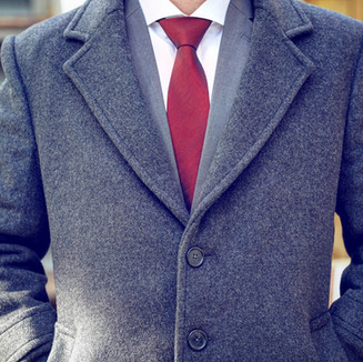 Stay warm in a full length cashmere overcoat