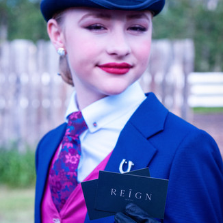Our happy client looks great for her riding competitions
