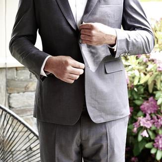 Heather grey suit
