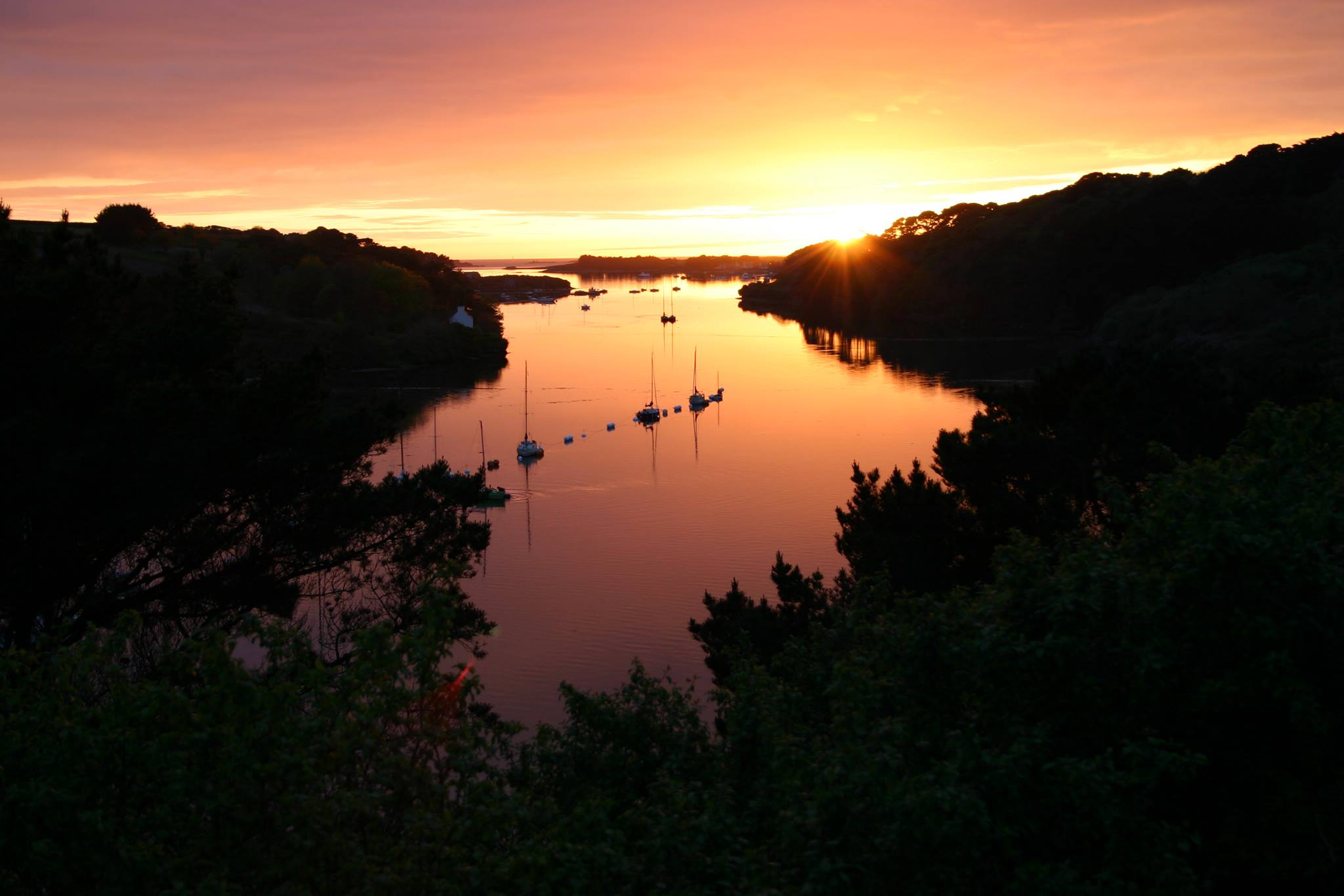 coucher de soleil l'Aberwrach
