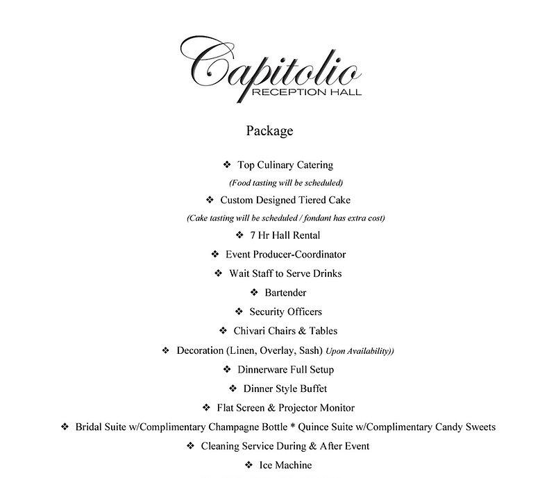 Capitolio Reception Hall