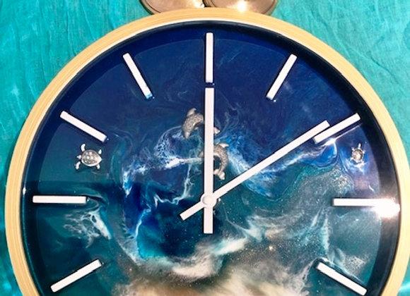 Meditation Time!  Ocean Resin Clock & Ting Shas