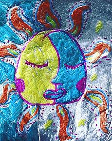 First grade art Sol y Luna 😍 #freeseele