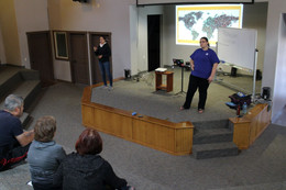 Jessica from the Deaf Bible Society teaching at the conference
