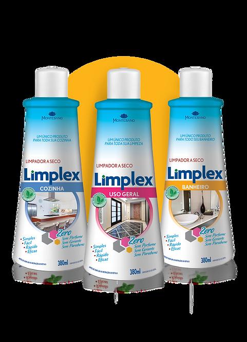 Kit Limplex Casa 380ml (4 Uso Geral + 4 Cozinha + 4 Banheiro)