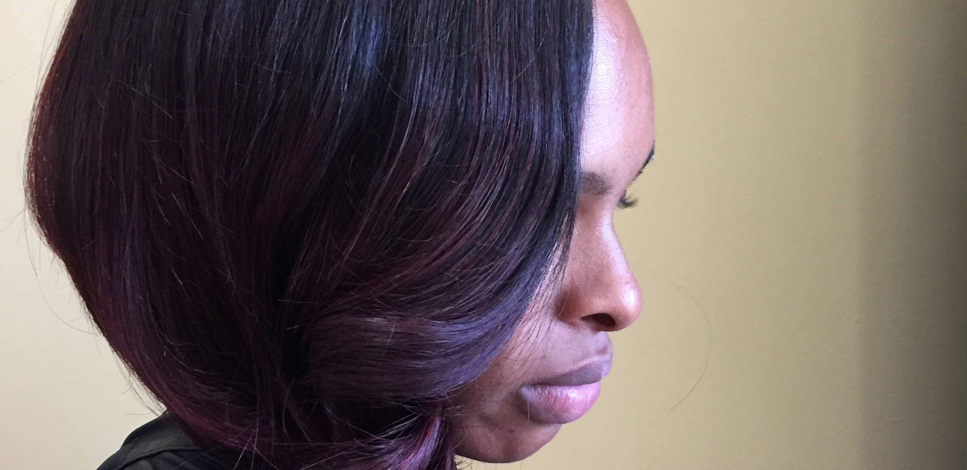 Sewn Weave with Leave Out