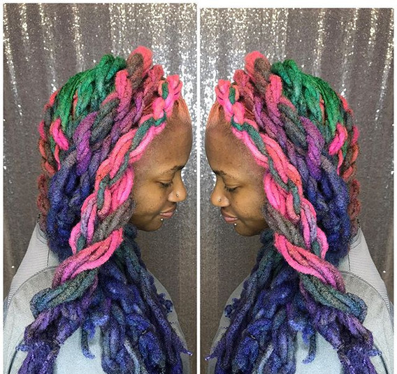 Candy 🍭 🍬 🦄 locs  by _explicitstylesa