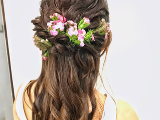 In the News: Floral Bridal Hairdos