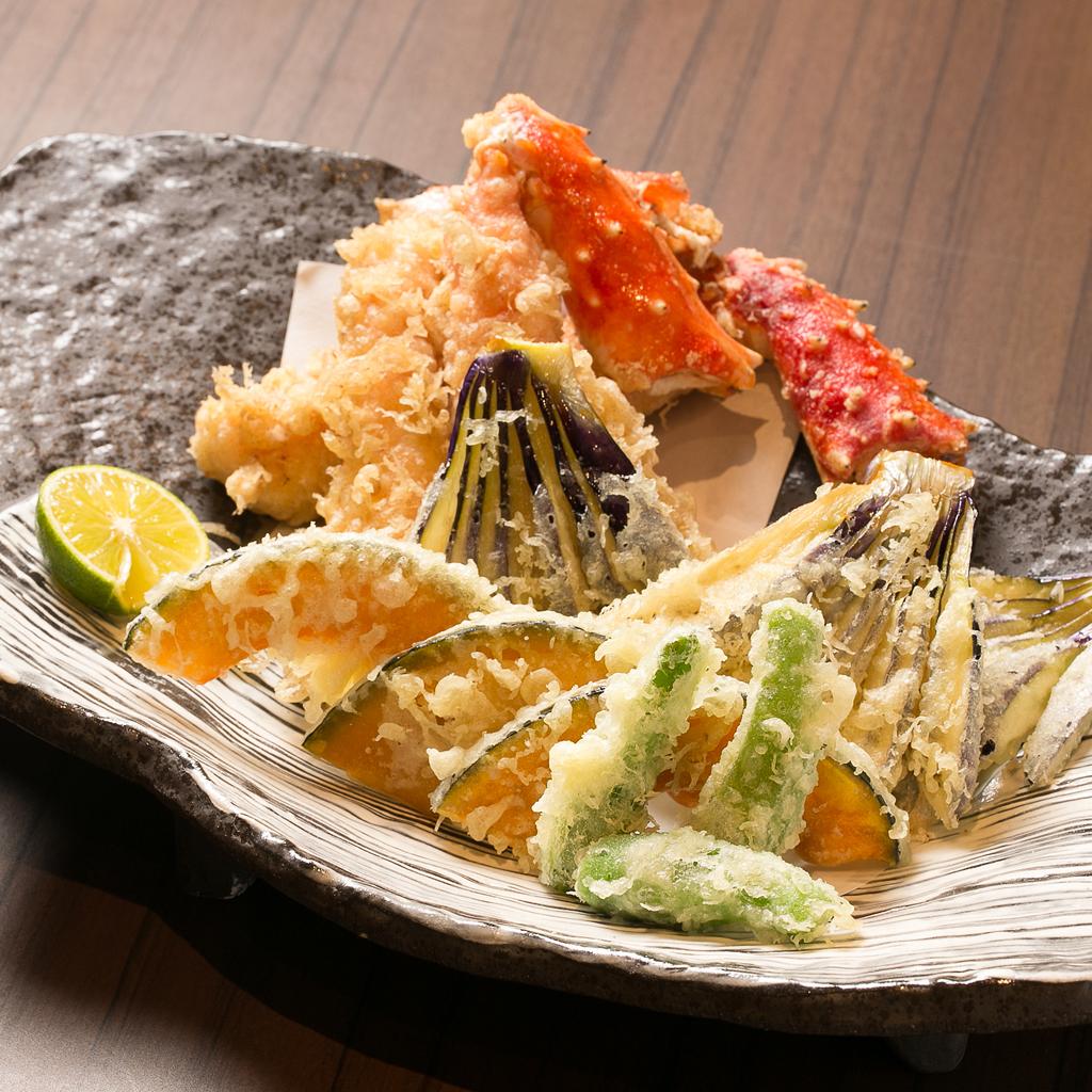 タラバ天ぷら1