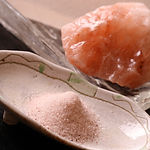 札幌すすきの 活魚 海鮮 炉ばた いそ舟 天然ピンク岩塩