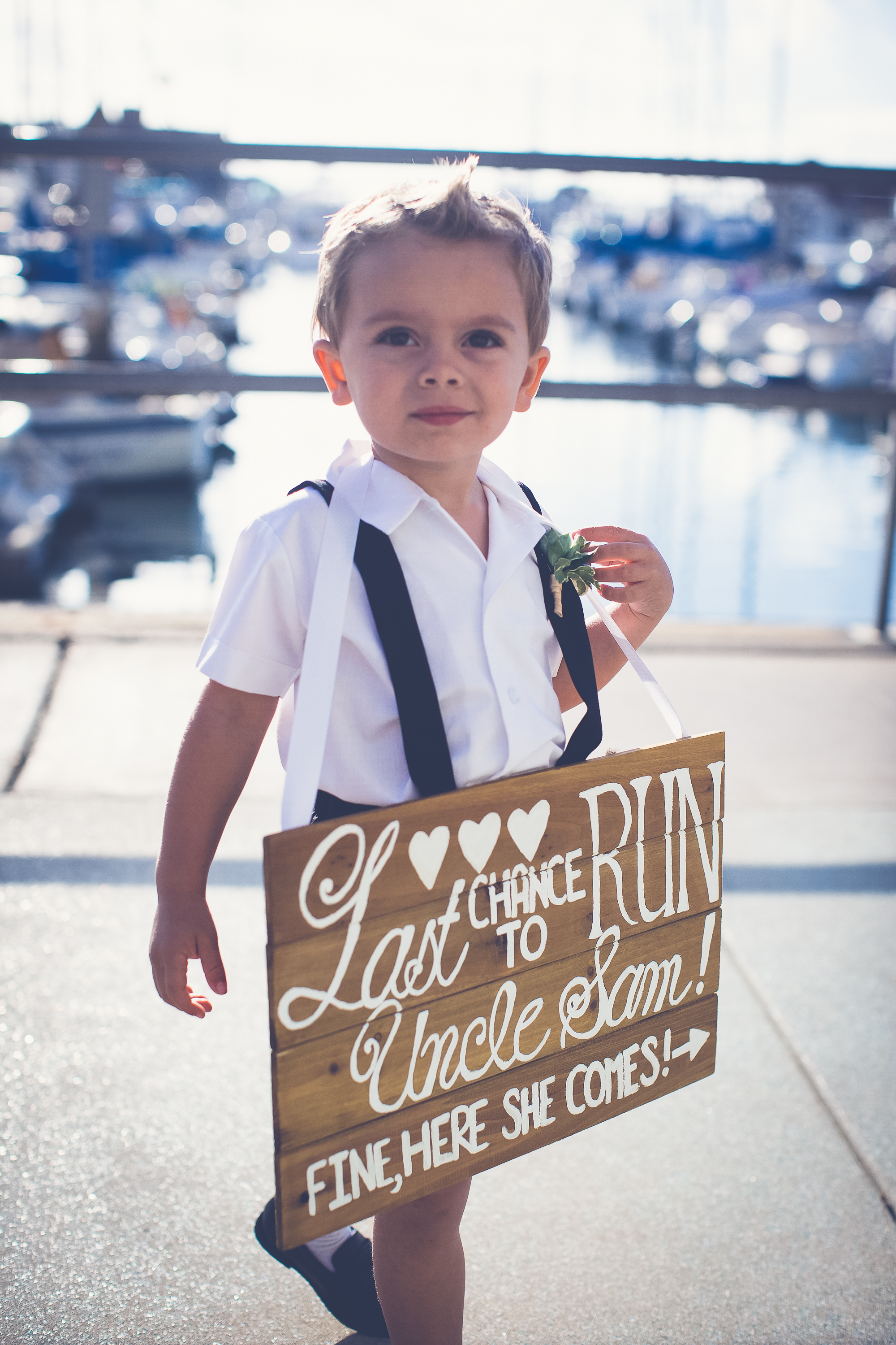 shade hotel wedding ring bearer