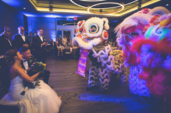 shade hotel wedding lion dancers