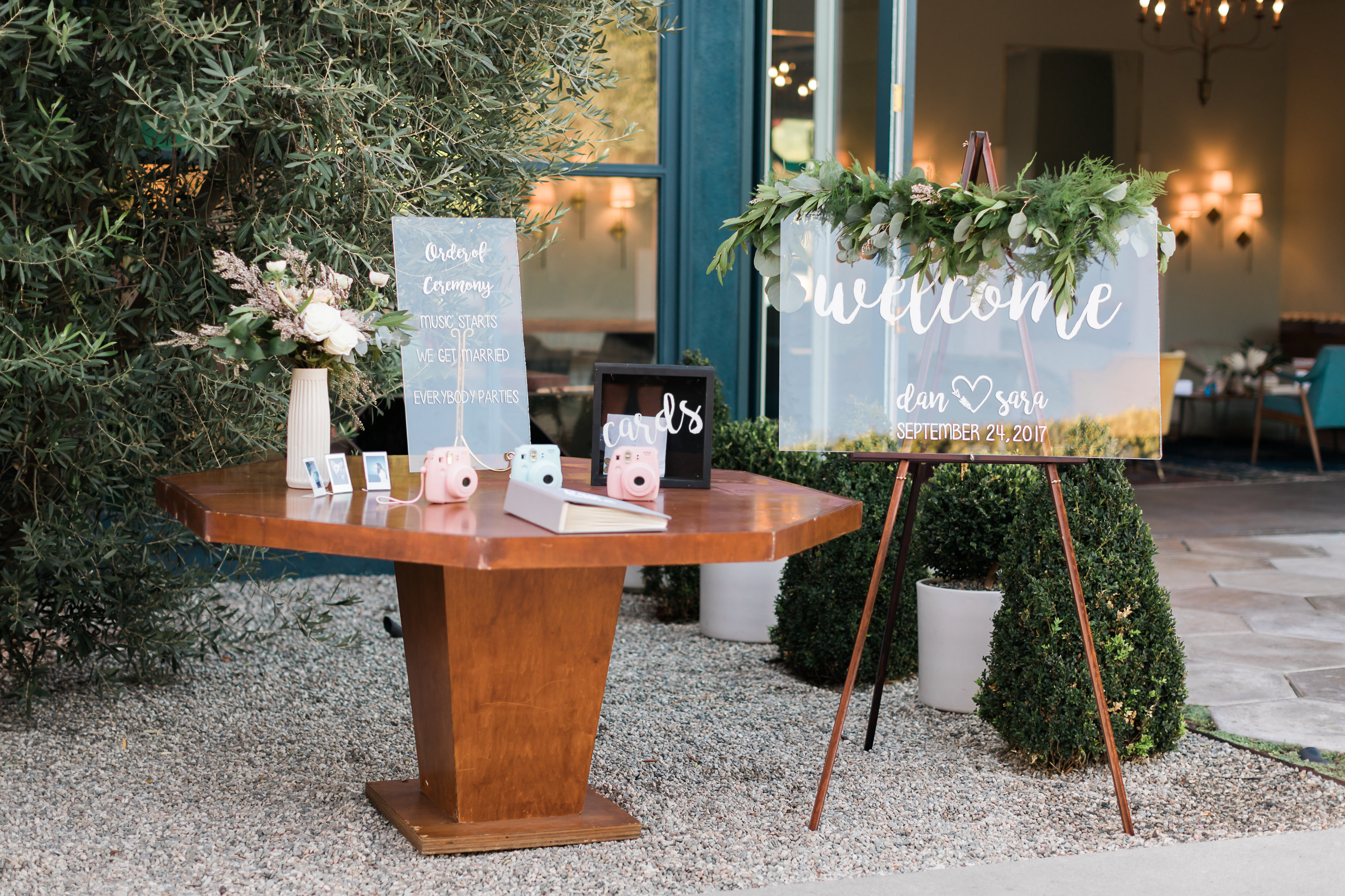 Fig House Wedding Welcome Table