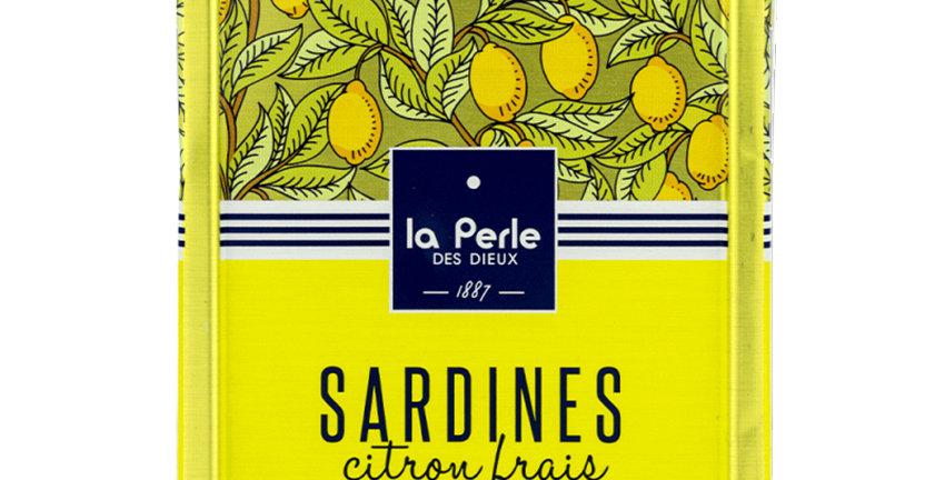 Sardines huile d'olive au citron frais