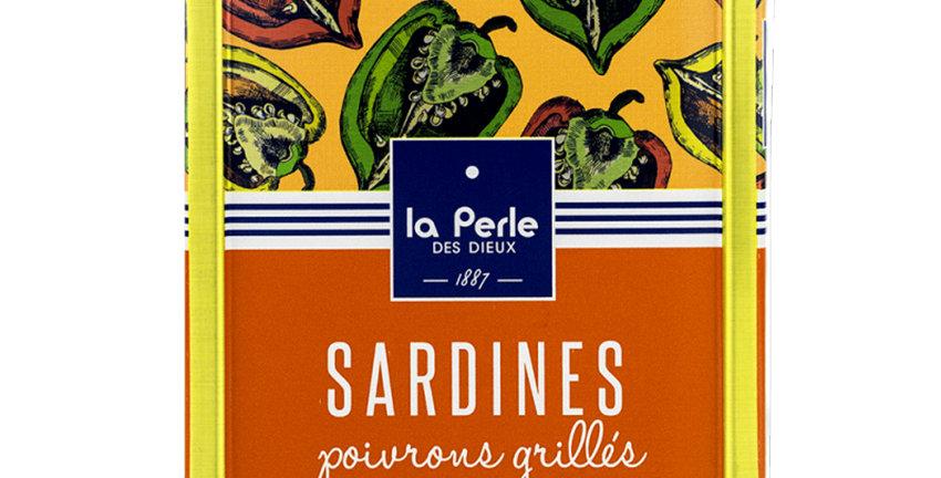 Sardines poivrons grillés et huile de Colza