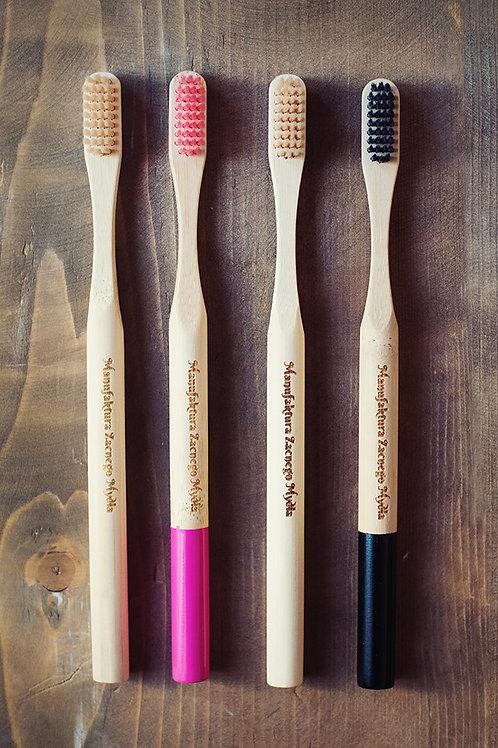 Eco Bamboo Natural Wooden Vegan Toothbrush