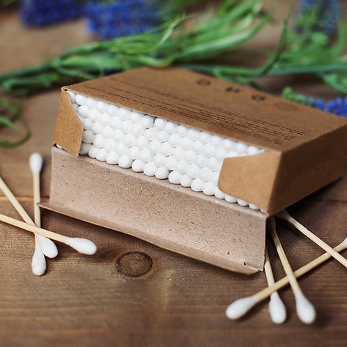 100% biodegradable cotton buds