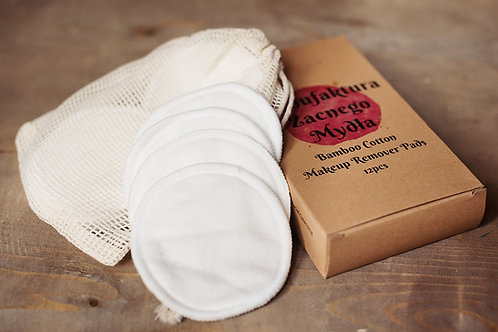 Natural Bamboo Cotton Reusable Makeup Remover Pads