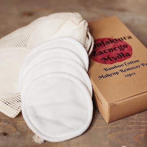 Natural Bamboo Cotton Reusable Makeup Remover Pads