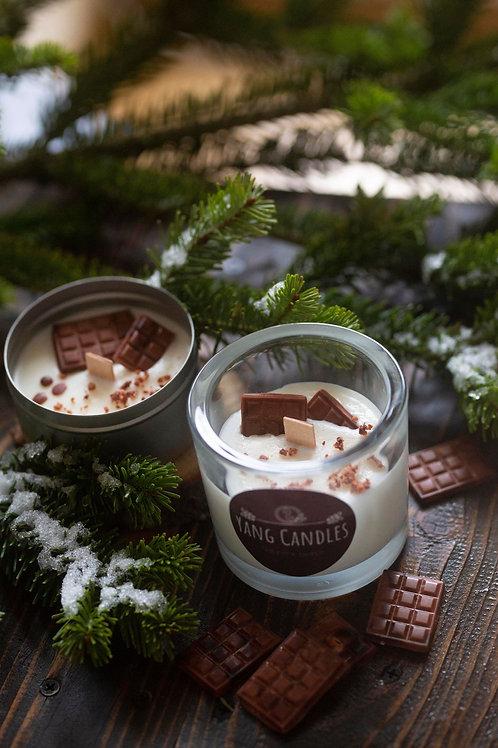 Hot Chocolate Christmas Candle