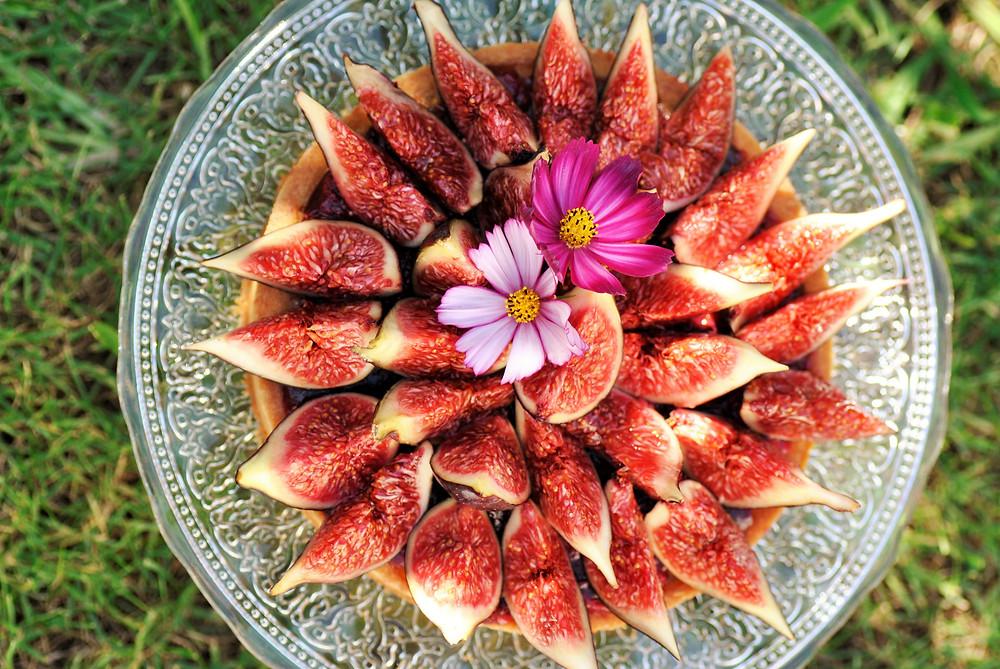 tarte figue framboise noisette