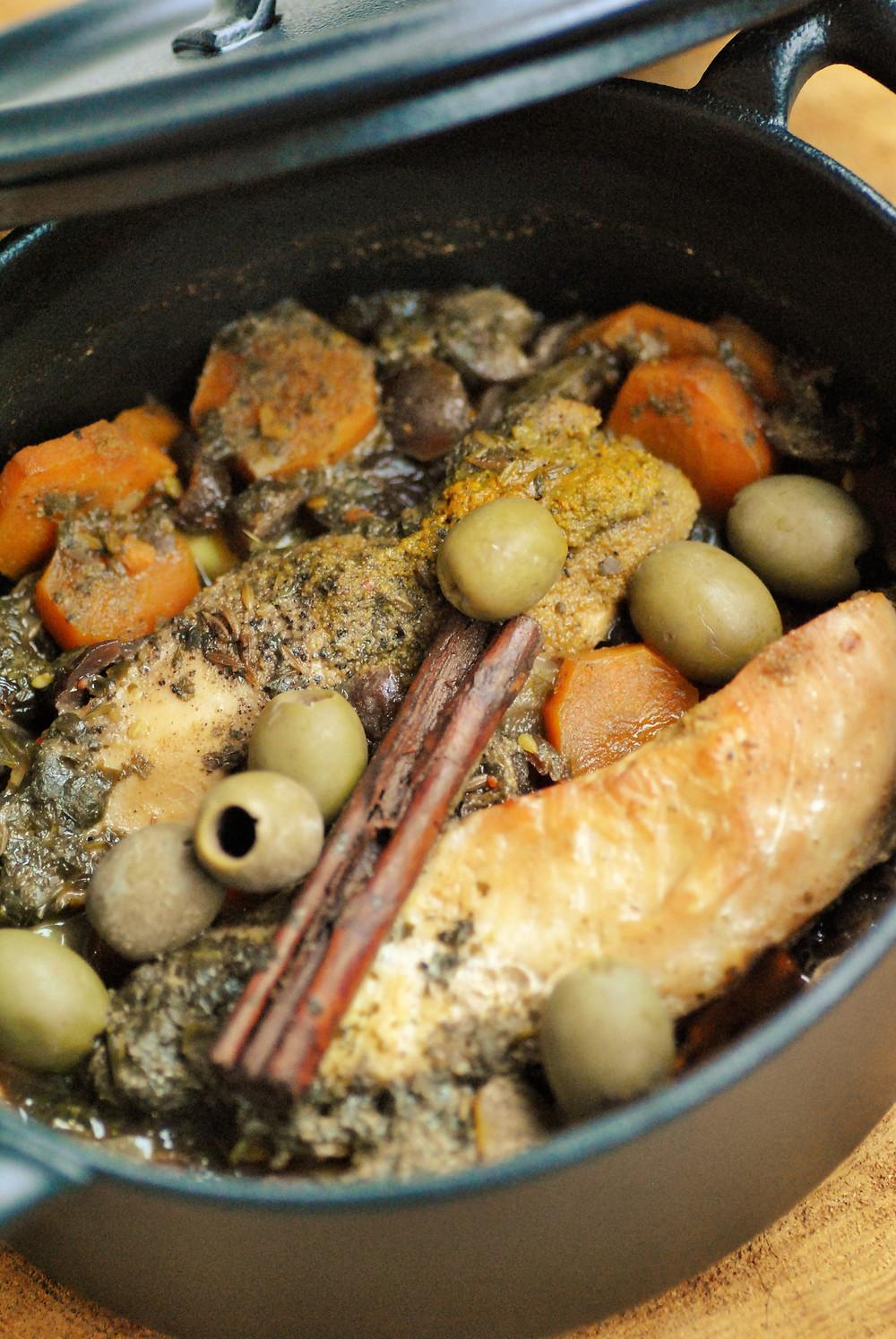 tajine poulet abricot olives
