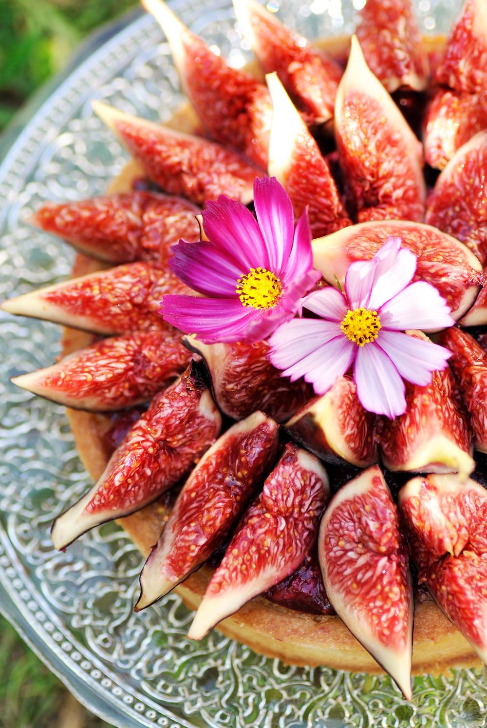 tarte figue framboise noisettes