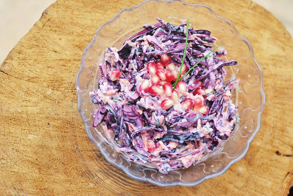 coleslaw chou rouge carotte grenade