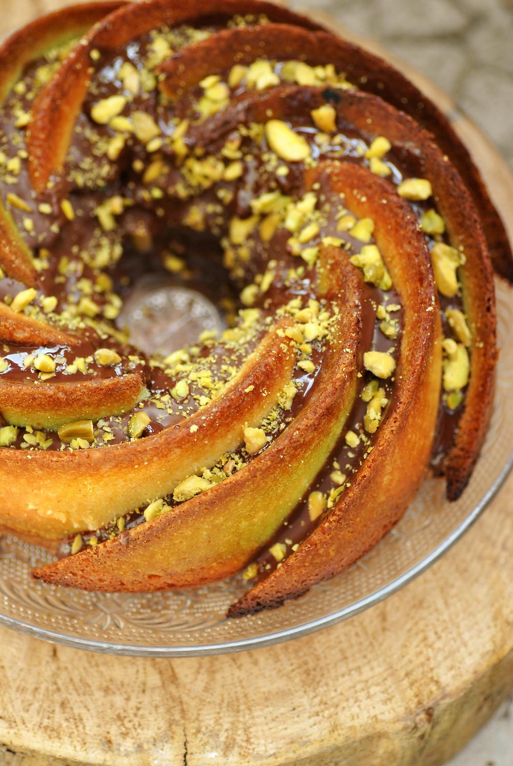 Marbré Pistache, citron & chocolat