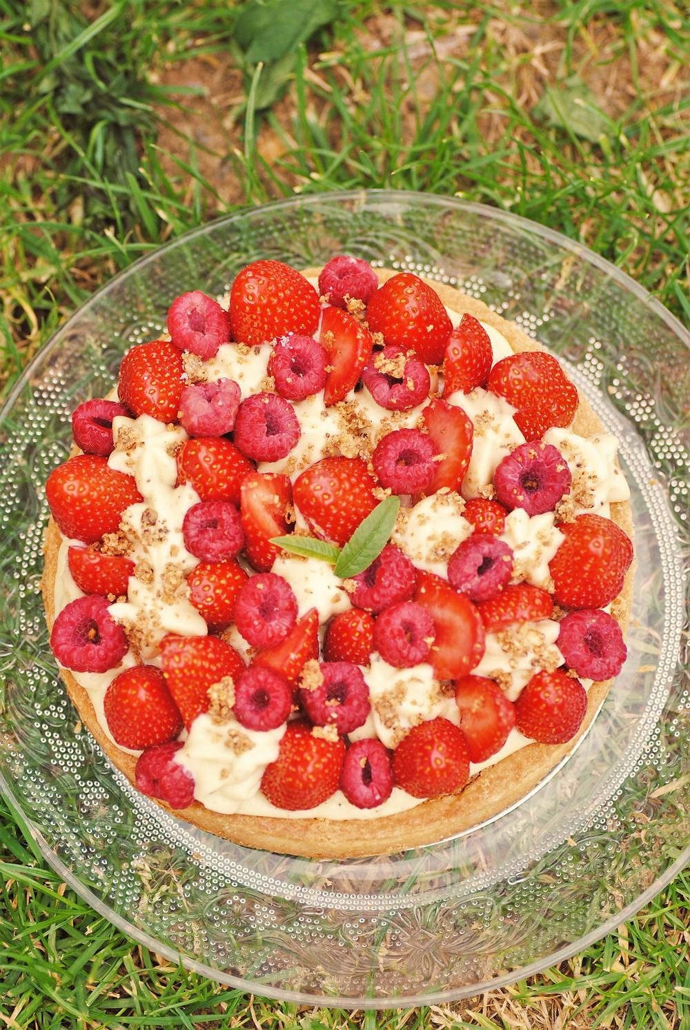 Tarte fraise framboise