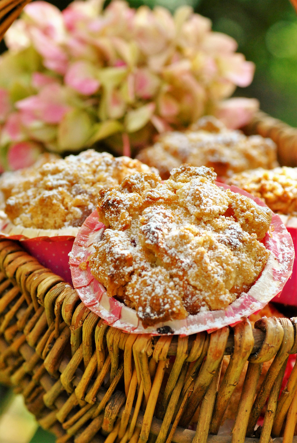 muffin framboise crumble cannelle