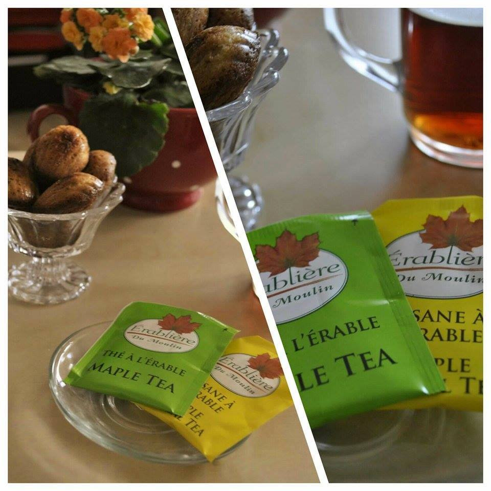 Sirop d'érable thé madeleines