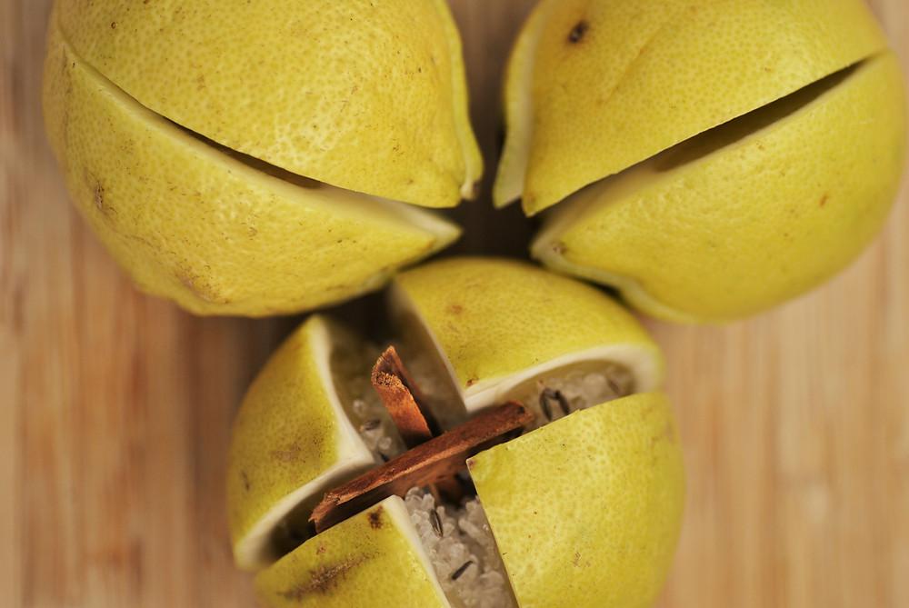 Citrons confits maison cannelle