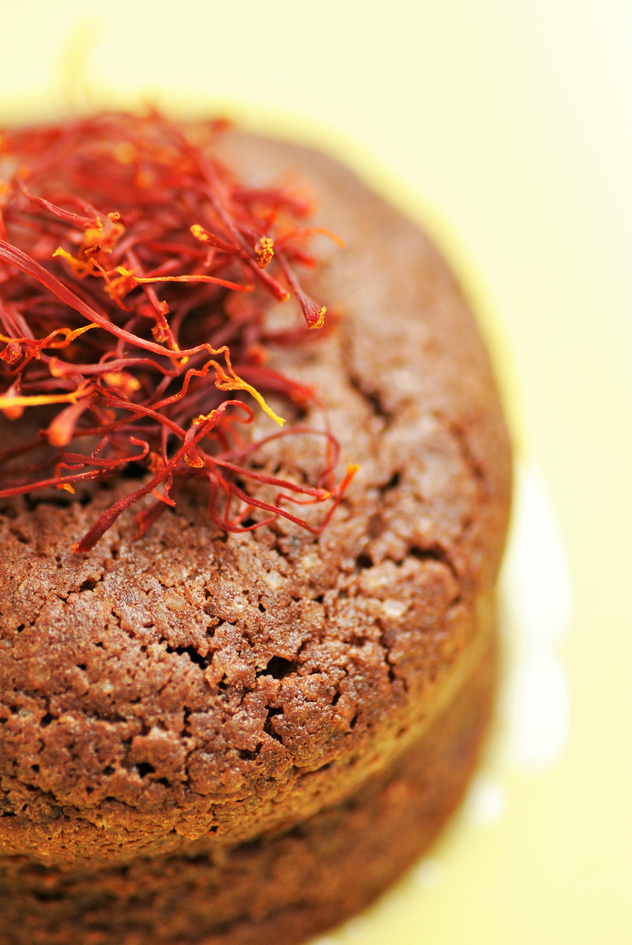 Fondant chocolat safran
