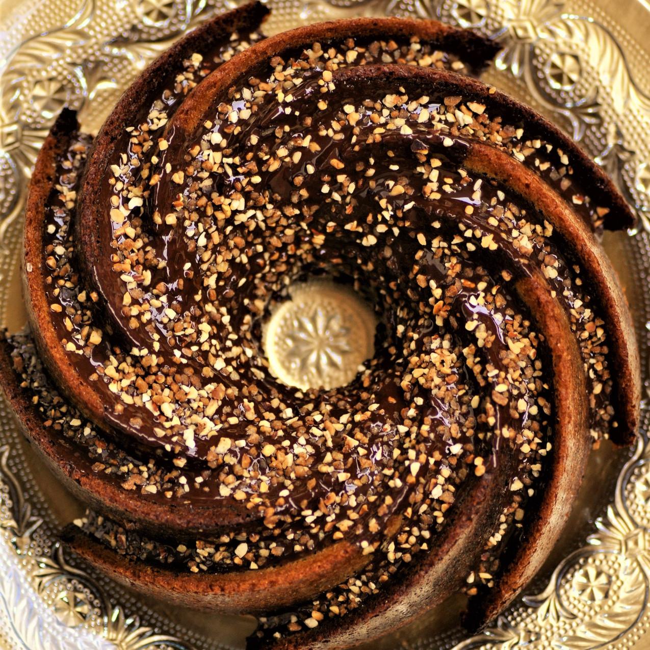 Marbré Vanille - Chocolat, glaçage Chocolat - Noisette