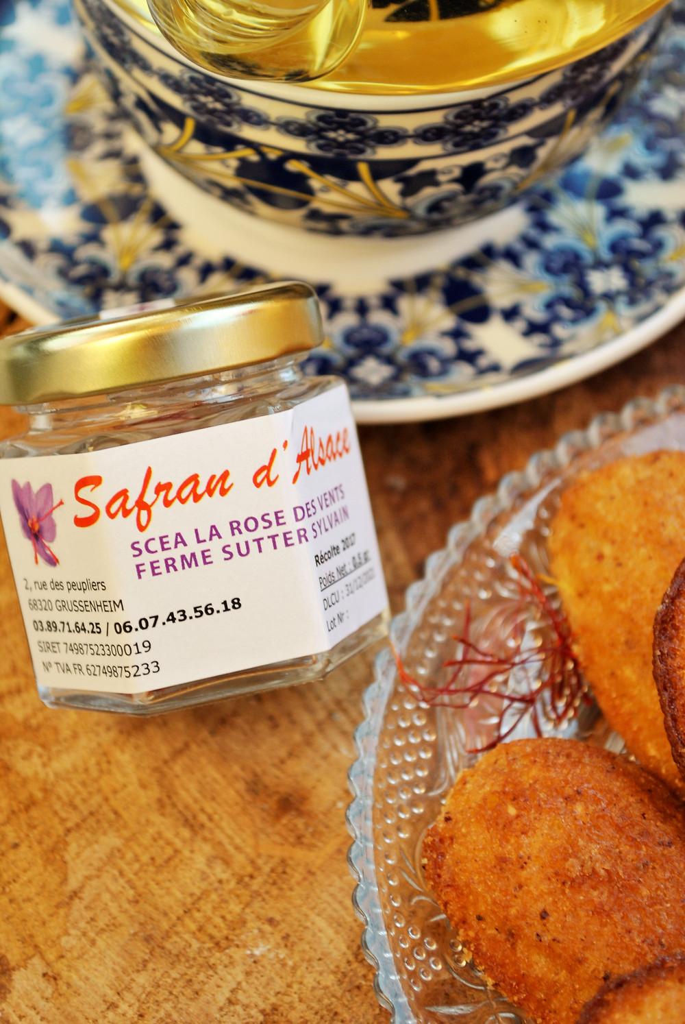 Safran Madeleines Miel Alsace