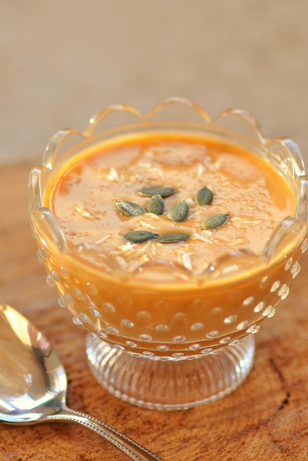 Soupe carotte orange gingembre