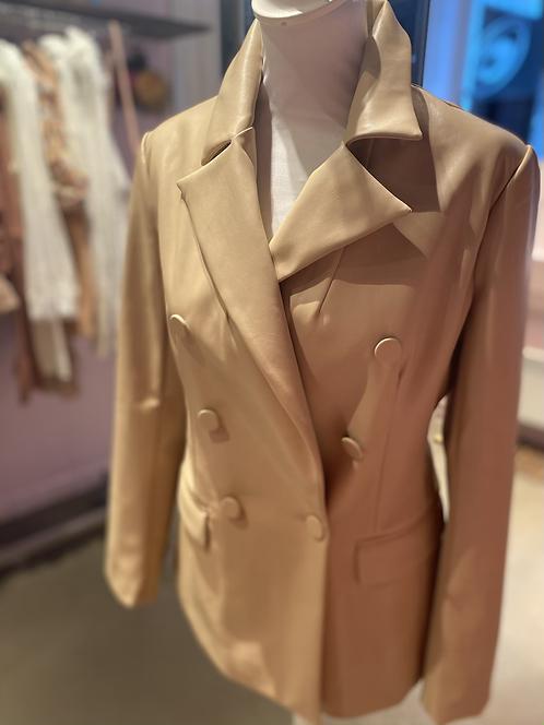 Veste tailleur sumili beige