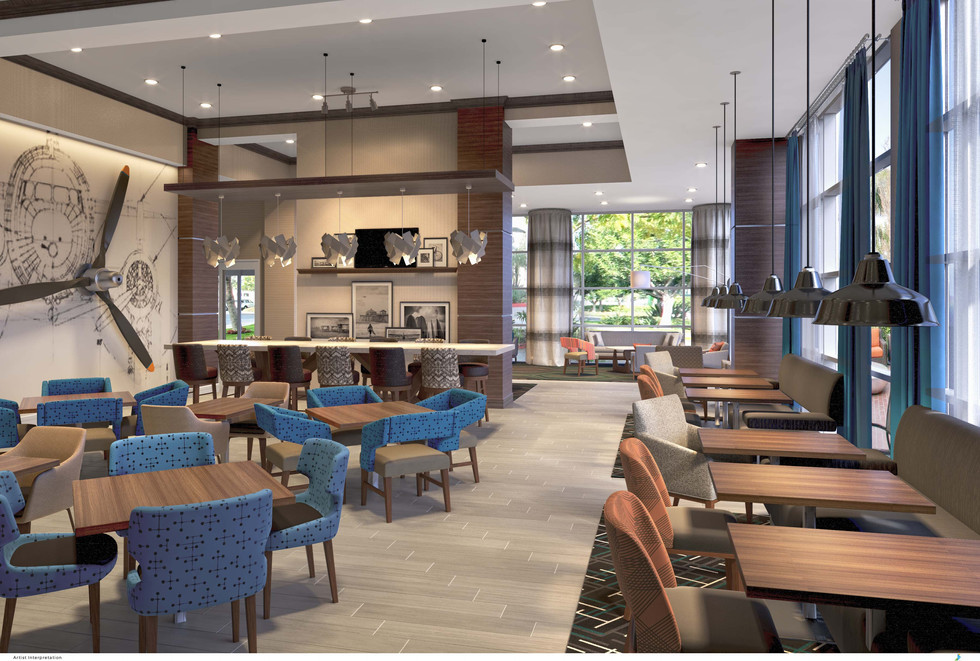 This is a sample hotel lobby rendering from AK Design Group